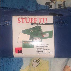 Men's or women's stuff it leather wallet